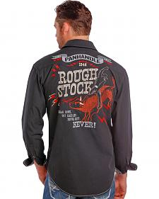 Rough Stock by Panhandle Slim Men's Vintage Bull Rider Logo Western Shirt