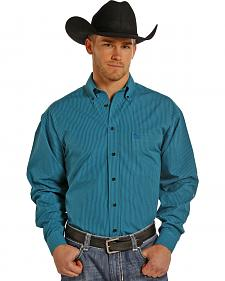 Panhandle Slim Men's Turquoise Check Western Shirt