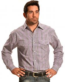 Crazy Cowboy Purple Mini-Plaid Western Snap Shirt