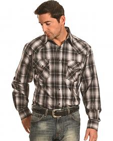 Crazy Cowboy Men's Black Plaid Western Snap Shirt