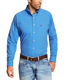 Ariat Men's Blue Allen Print Shirt