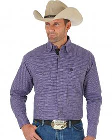 Wrangler George Strait Men's Troubadour Purple Jacquard Shirt