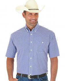 Wrangler George Strait Purple Print Short Sleeve Shirt