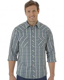 Wrangler Fashion Snap Men's Green Plaid Western Shirts