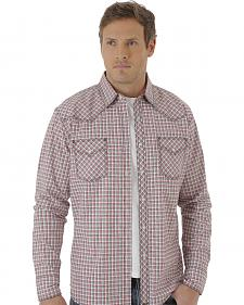 Wrangler Men's White, Red and Black Plaid 20X Western Shirt