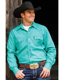 Cinch Men's Teal Navy Snaps Western Shirt