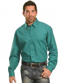 Cinch Men's Green Tonal Print Western Shirt