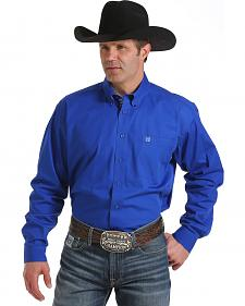 Cinch Men's Royal Blue Long Sleeve Western Shirt