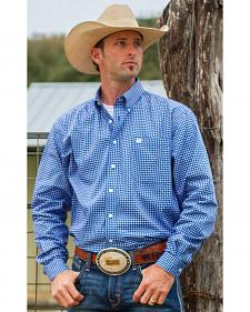 Cinch Men's Royal Blue Geo Print Western Shirt
