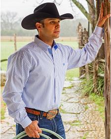 Cinch Men's White Long Sleeve Western Shirt