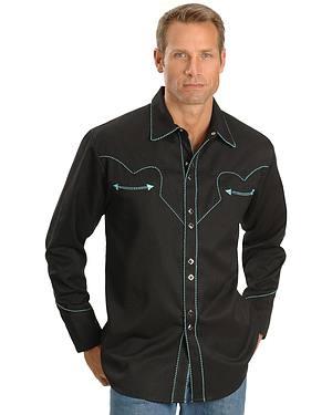 Scully Black Vintage Western Shirt