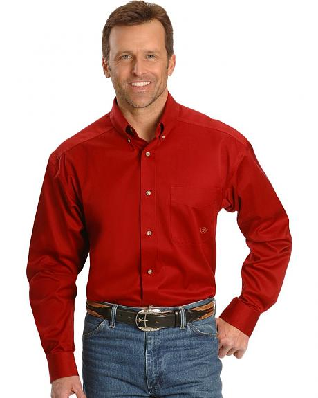 Ariat Red Twill Cowboy Shirt