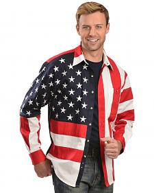 Rangewear by Scully Patriotic American Flag Western Shirt