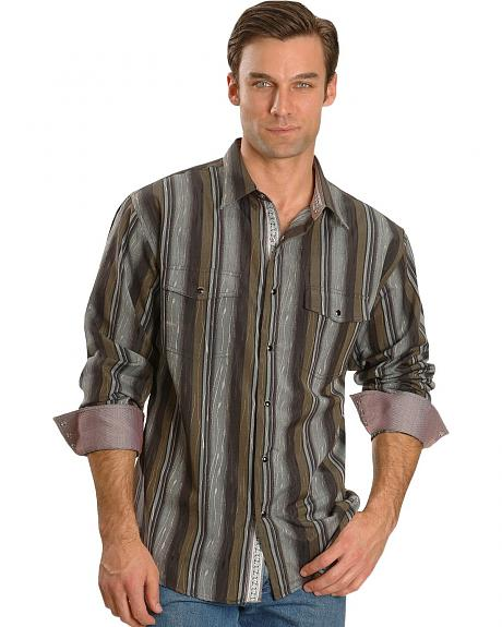Scully Dobby Stripe Western Shirt