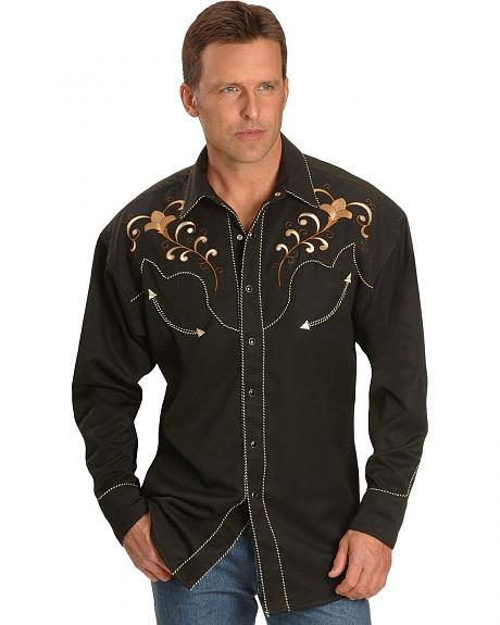 Fancy Embroidery Retro Western Shirt