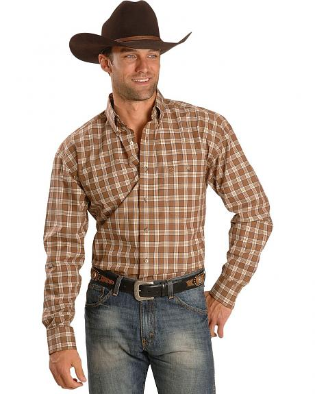 Wrangler George Strait Cream Plaid Shirt