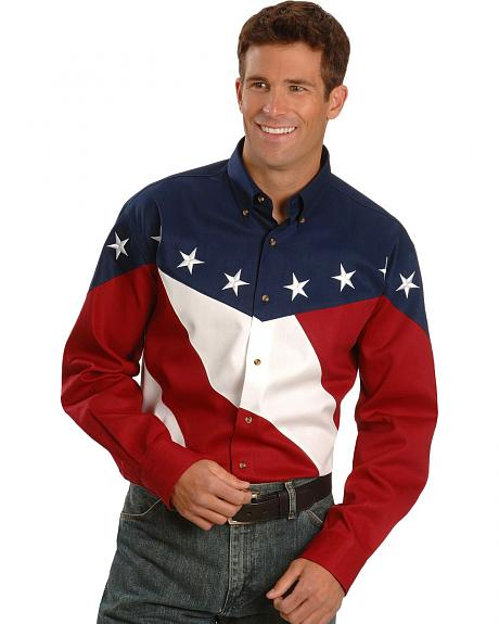 Stars & Stripes Flag Western Shirt