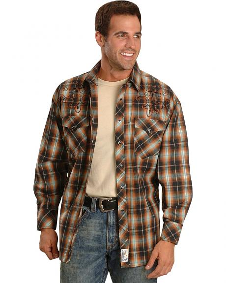 Panhandle Slim Plaid Swing Cowboy Western Shirt