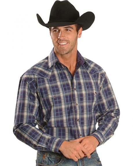 Stetson Plaid Stripe Western Shirt - Reg & Big