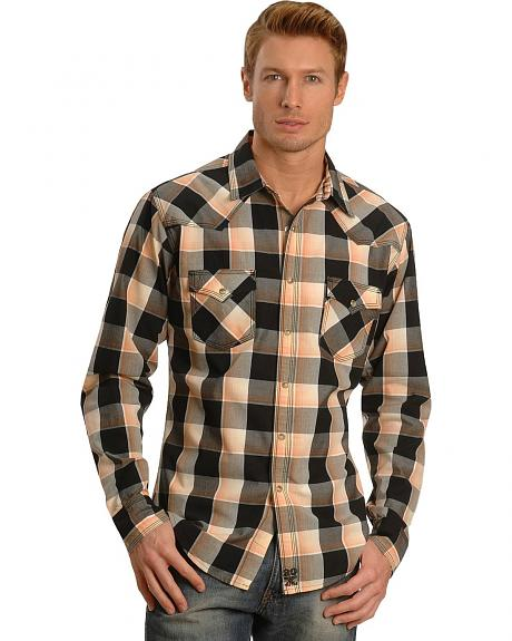 Wrangler 20X Plaid Western Shirt