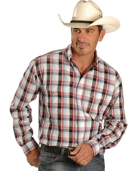 Roper Plaid Oxford Western Shirt