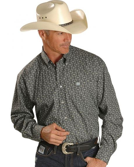 Cinch � Circle Wallpaper Print Oxford Shirt