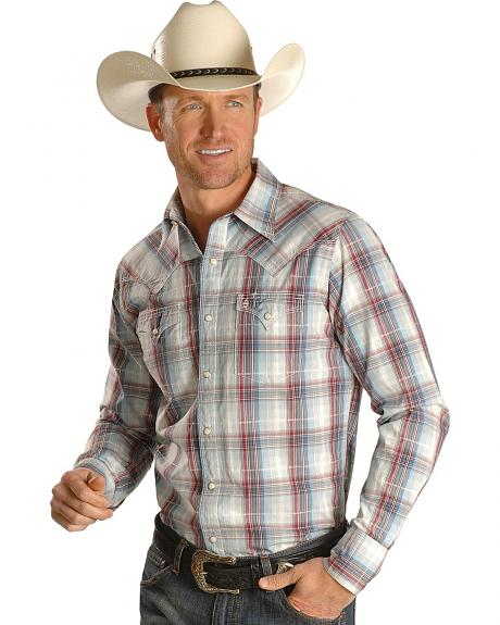 Stetson Long Sleeve Plaid Western Shirt