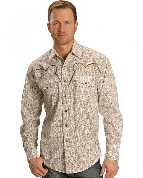 Stetson Fancy Embroidered Yoke Retro Western Shirt