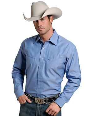 Stetson Solid Twill Snap Oxford Shirt