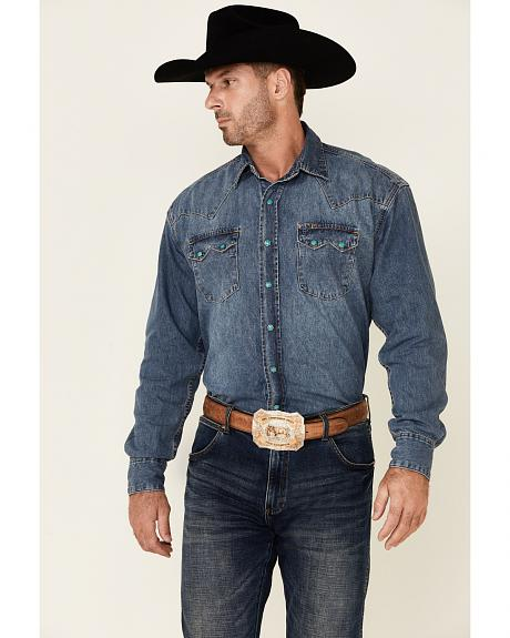 Stetson Denim Snap Western Shirt