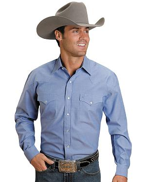 Stetson Solid Snap Oxford Shirt
