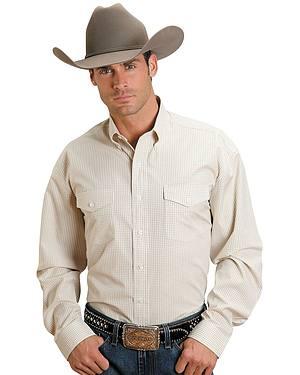 Stetson Plaid Check Button Shirt