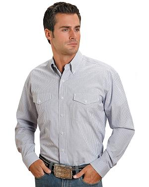 Stetson Plaid Check Button Shirt