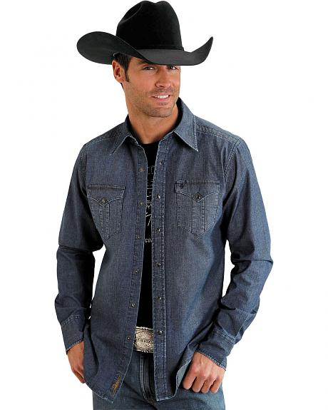 Stetson Enzyme Washed Denim Shirt
