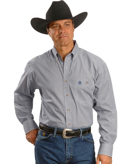 Wrangler George Strait Diamond Print Shirt