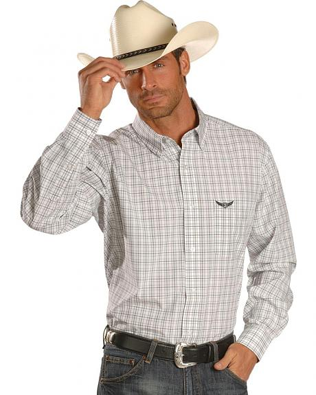 Trevor Brazile Relentless by Wrangler Plaid Shirt