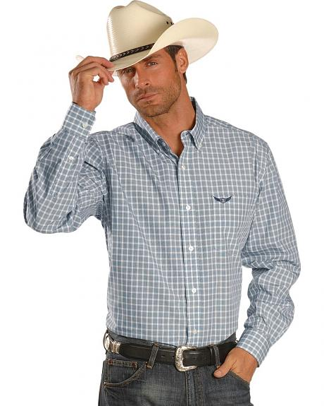 Trevor Brazile Relentless by Wrangler Plaid Classic Western Shirt