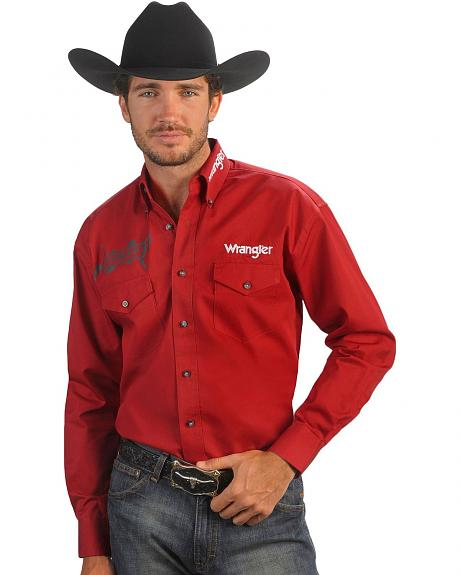 Wrangler PBR Logo Long Sleeve Shirt