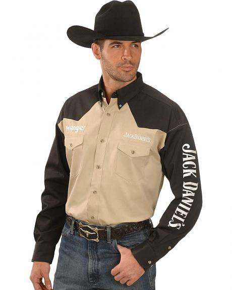 Wrangler Jack Daniel's Two-Tone Rodeo Shirt