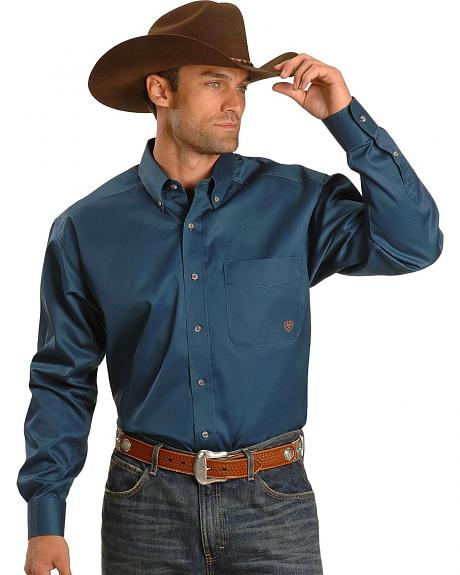 Ariat Mystic Blue Solid Twill Shirt