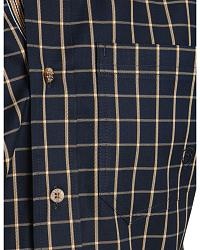 Ariat Navy Clay Check Plaid Shirt at Sheplers