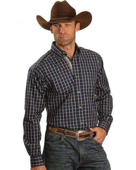 Ariat Navy Clay Check Plaid Shirt