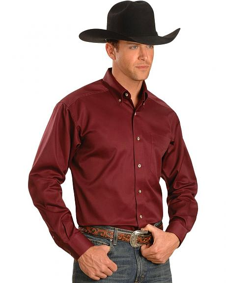 Ariat Burgundy Solid Twill Shirt