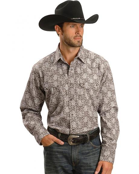 Ariat Cement Cade Paisley Snap Shirt