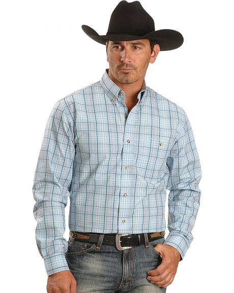 Exclusive Gibson Trading Co. Blue Plaid Western Shirt
