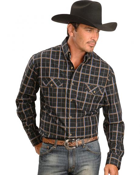 Exclusive Gibson Trading Co. Black & Yellow Plaid Western Shirt
