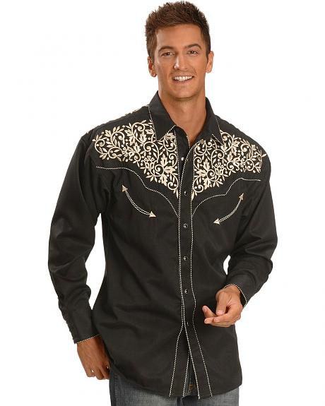 Exclusive Gibson Trading Co. Embroidered Yoke Retro Western Shirt