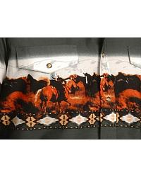 Panhandle Slim Horse Border Print Shirt at Sheplers