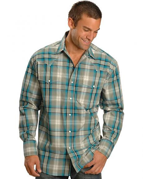 Roper Spruce Plaid Snap Western Shirt