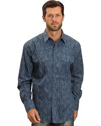 Roper Blue Paisley Snap Shirt - Reg at Sheplers